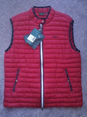 Chervo italian sports luxury performance golf puffer vest 2-way zip red mens 2x