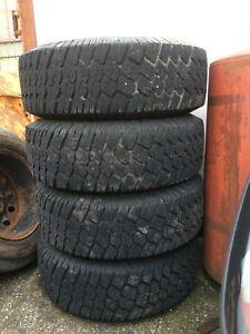 4x pneus hiver LT 265/75R16 bfgoodrich commercial ta