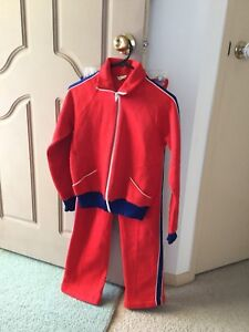 Young Ladies Red Track Suit (Size 12) ($10.00/Set)