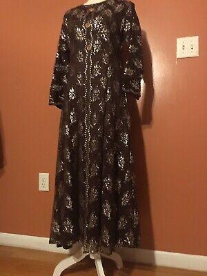 Lace abaya dress 2 Layer Beautiful Brown Abaya