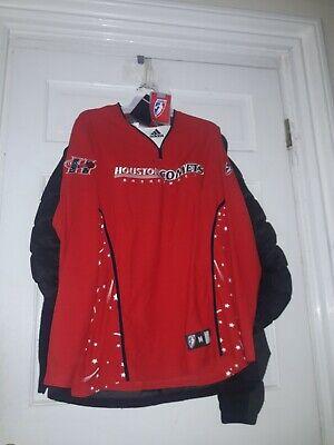 a27246fc519 Houston Comets Warm-up Long Sleeve basketball Shirt Jersey WNBA Adidas NEW L