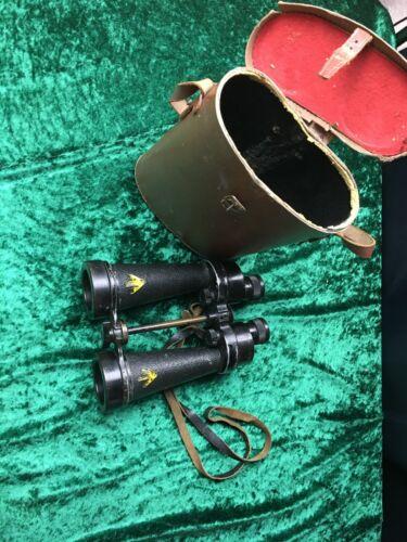 Vintage antique barr stroud cf 41 7x military binoculars original leather case