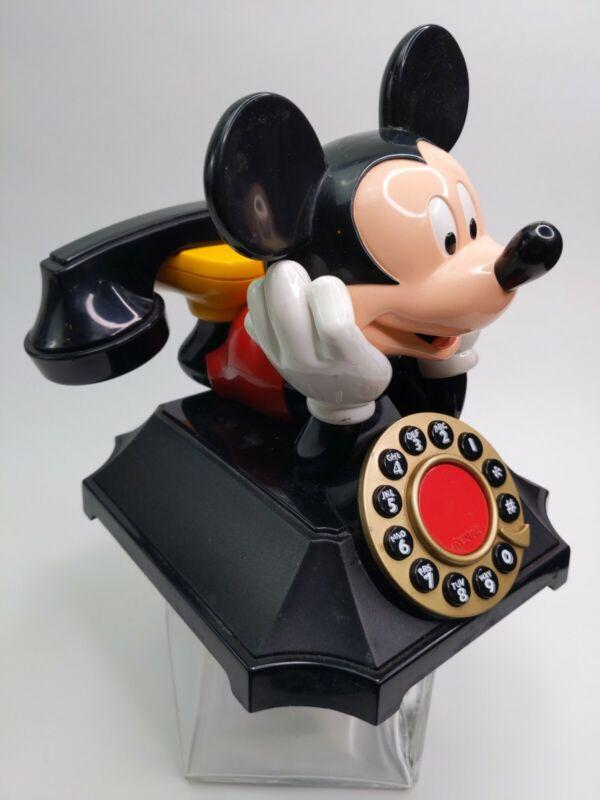 Vintage Segan Telemania 0898 Mickey Mouse Desk Phone Telephone Touch Tone