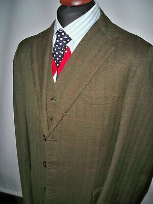 John G Hardy 3 Piece Tweed Suit UK 44