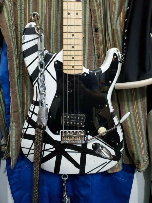 Eddie Van Halen 78 Frankenstrat Franky Clone EVH VH1 Black and White Striped