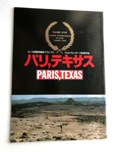 "Wim Wenders, Nastassja Kinski ""Paris,Texas"" Japan movie souvenir program"