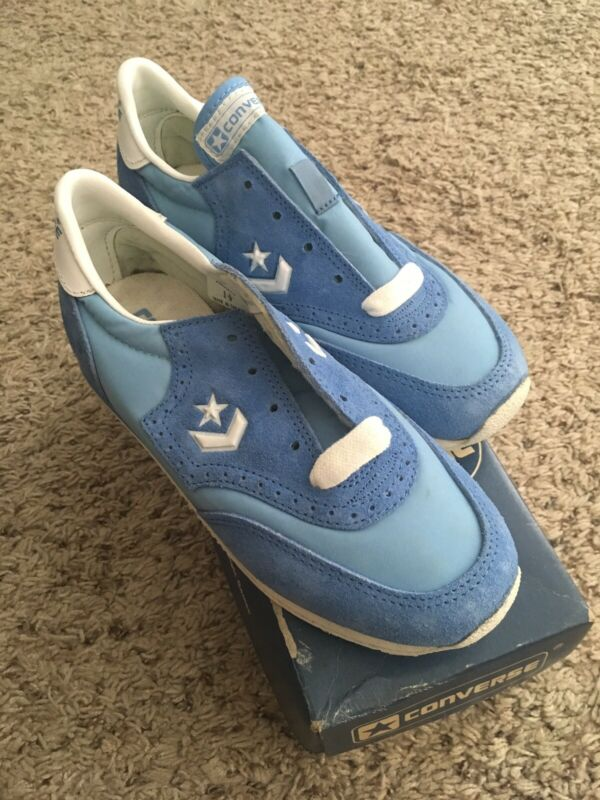NIB VTG 80's Converse Acadia Vintage Youth Sneakers - Size 1.5 - Sky Blue White