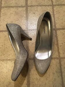 Silver heels size 8 Call It Spring