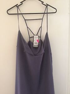 """Slate grey """"undone"""" dress from Ally New with tags $10 Alderley Brisbane North West Preview"""