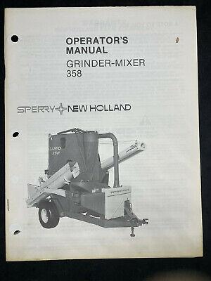Sperry-new Holland Grinder-mixer 358 Operators Manual