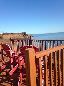 Oceanfront Cottage on Northumberland Strait for weekly rental