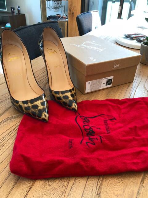 1b0281386483 CHRISTIAN LOUBOUTIN PATENT LEOPARD SO KATE PUMPS 120 ...