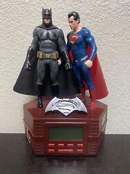 Batman VS Superman Figure Alarm Clock Music Radio DC Comics Kids Toy