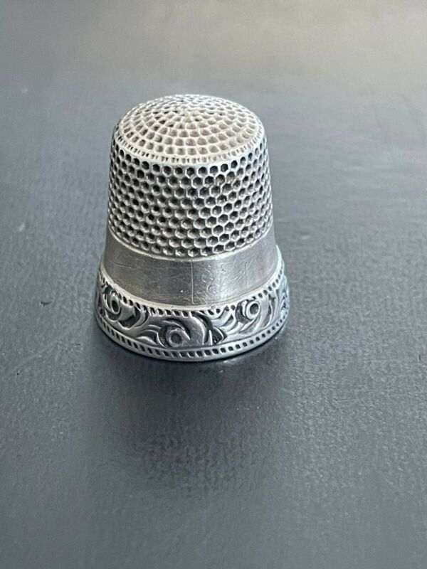 Antique Ketcham & McDougall MKD Sterling Silver Thimble, Size 10