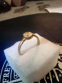 Gold Filled sapphire diamond ring