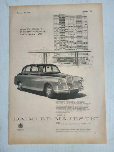 1960 DAIMLER MAJESTIC BRITISH MAGAZINE FULLPAGE ADVERTISEMENT