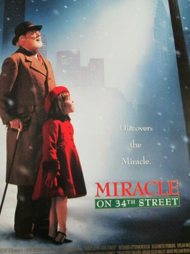 MIRACLE ON 34TH ST Original THEATER-USED Movie Poster 27x40 CHRISTMAS santa - C5