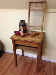 Antique Repurposed Sewing Cabinet Stand