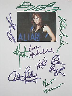 Alias Signed TV Finale Script X9 Jennifer Garner Vartan Anders Lumbly reprint
