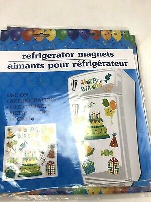 Birthday Locker Decorations (Happy Birthday Magnet Gift Set Fridge Locker Party Decor)