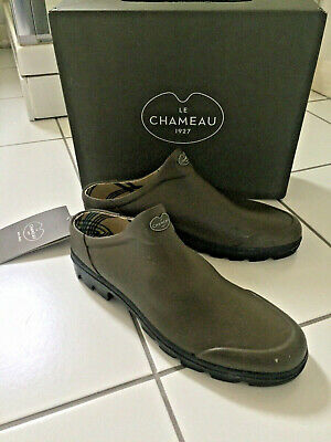 HALF PRICE Le Chameau Mens Green Sabot Welly Clogs Size 10.5 BNWT Boxed