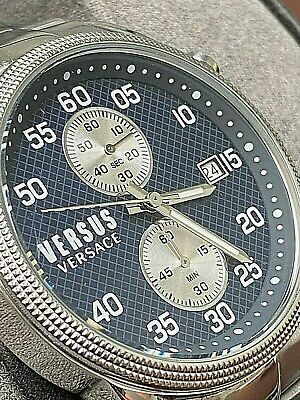 VERSACE Versus  Mens Stainless Steel Date 43mm MULTI-DIAL Chrono-date Watch