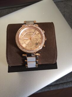 Michael Kors rose gold blush watch with pearl band