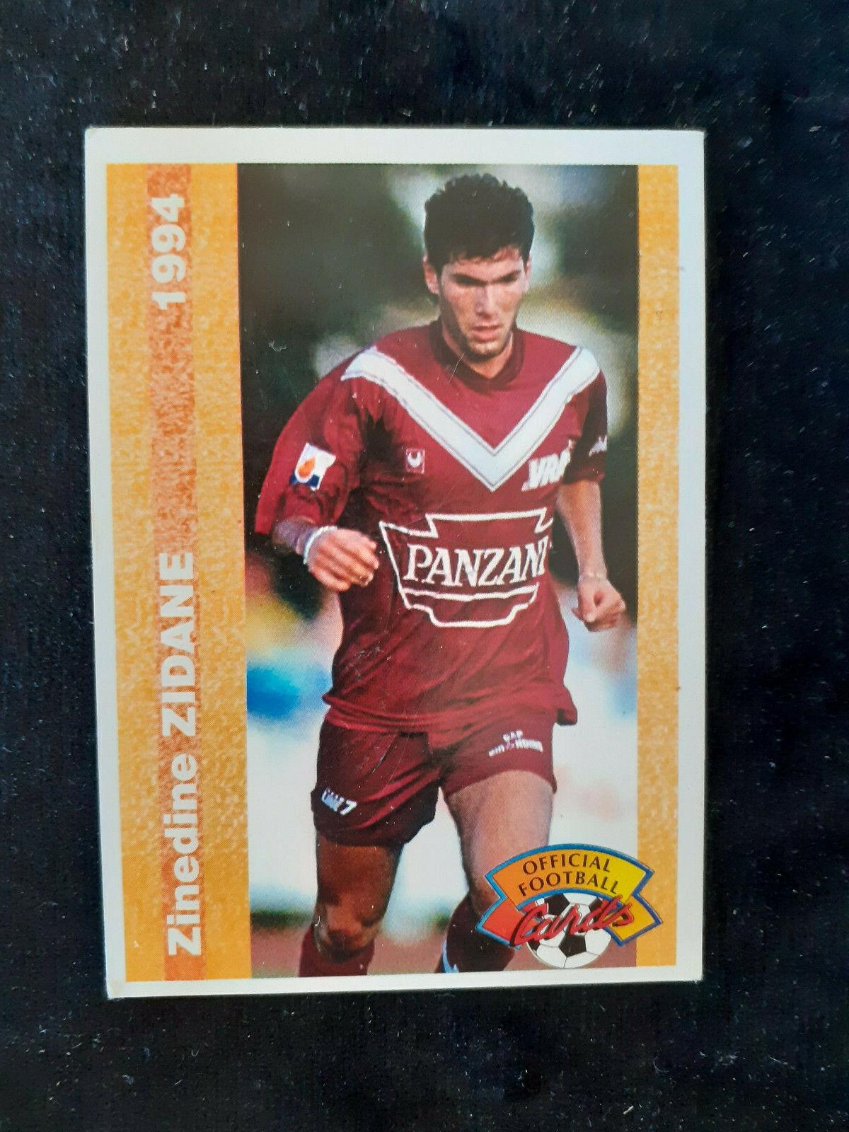 #155 carte panini card zinedine zidane 1994 football girondins de bordeaux