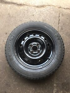Set of four rims and tires