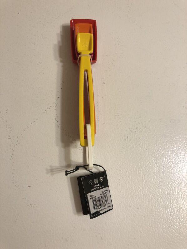 ZAC DESIGNS ~ Plastic Measuring Spoon Set ~ Multi Color~NEW Dishwasher Safe