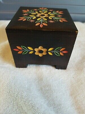 Vintage German Music Box  3 x 3 inches