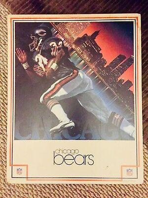 Original Vintage Walter Payton Chicago Bears DAMAC NFL Poster 1983 **RARE**
