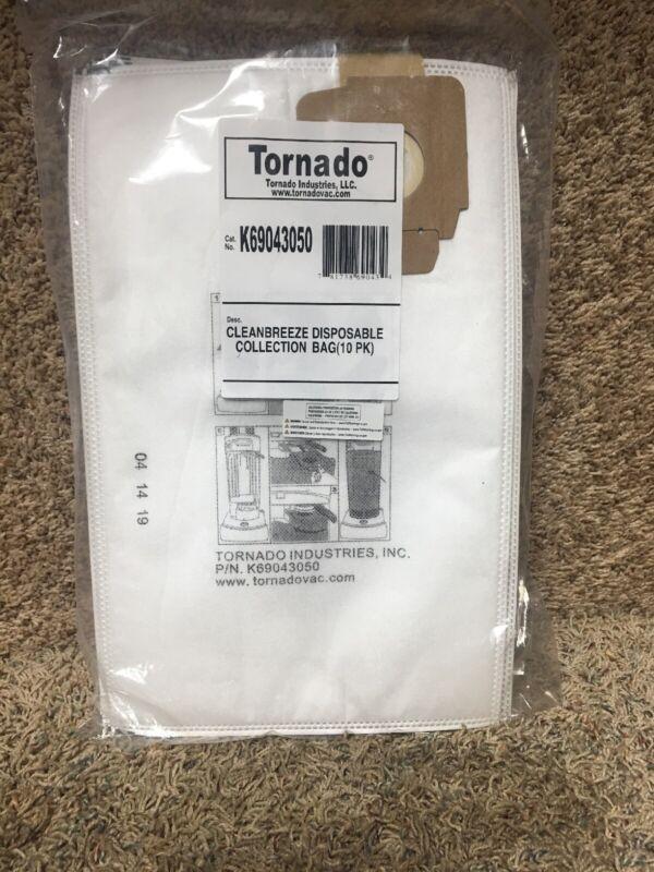Tornado K69043050 Vacuum Bag, Paper, 3-Ply Vacuum Type Upright Vacuum 3XCF7 10PK