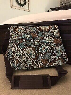 Vera Bradley Messenger Bag Laptop Java Blue Perfect Condition