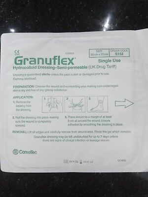 Granuflex 20 x 20 cm Hydrocolloid Dressing exuding wounds, ulcers, burn wounds ()