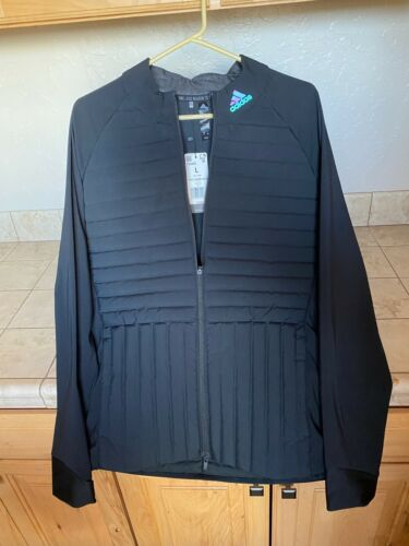 Adidas Frostguard Insulated Full ZIp Jacket New Large Black