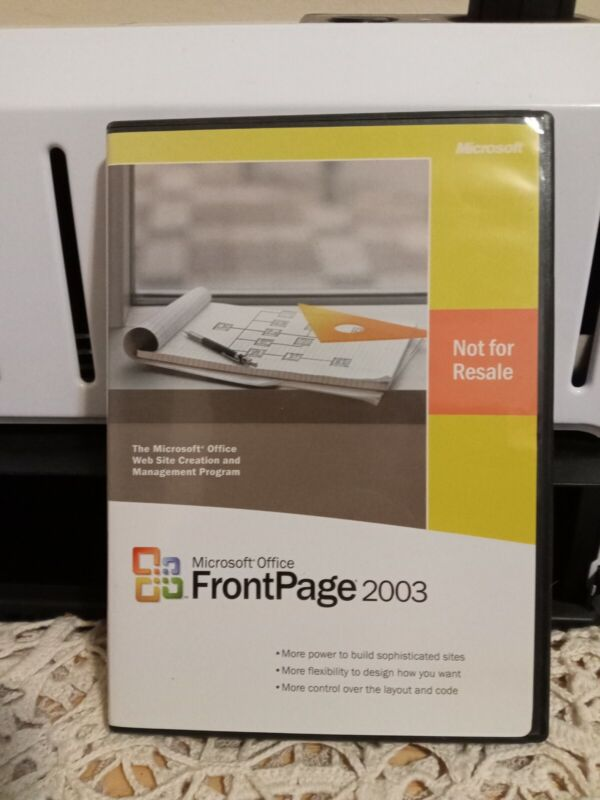 Microsoft Office FrontPage 2003 Website Creation Software (includes product key)