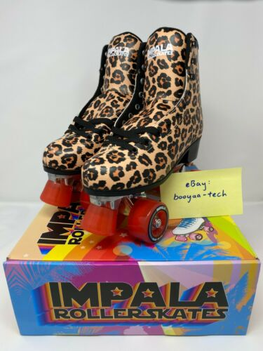 🔥 NEW & FAST FREE SHIP Impala Quad Roller Skates - Leopard, Size 5 or 8 🔥