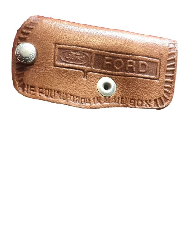 Vintage Ford Leather Key Case McFadden Ford Jamestown Ny