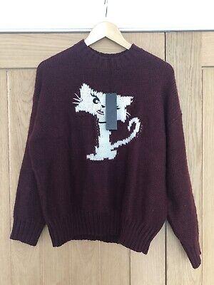 Karl Lagerfeld Fun Choupette Sweater Cat Jumper, BNWT, Size L