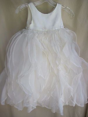 Fairy Flower Dress (Fairy Tale Wedding Dress flower girl size 5 pageant cascade ruffles ivory)