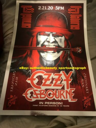 OZZY OSBOURNE BLACK SABBATH ORDINARY MAN AMOEBA PROMO FLYER MUSIC 12x18 REPRINT