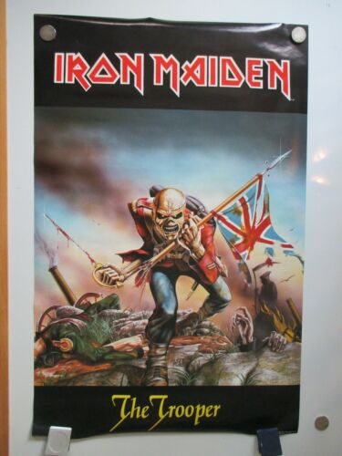 VINTAGE IRON MAIDEN TROOPER POSTER 1984 ORIG NOT REPRO 22X34 NOS RARE
