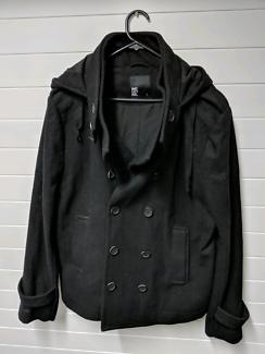 Mens black winter coat