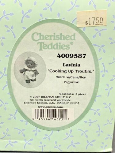 Cherished Teddies 2007 Lavinia Cooking Up Trouble Witch Cane Key 4009587 (NEW)