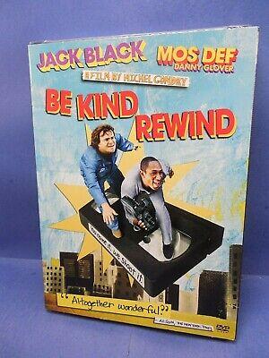 BE KIND REWIND - JACK BLACK/MOS DEF/DANNY GLOVER  - Brand New - FREE - Be Kind Rewind Jack Black