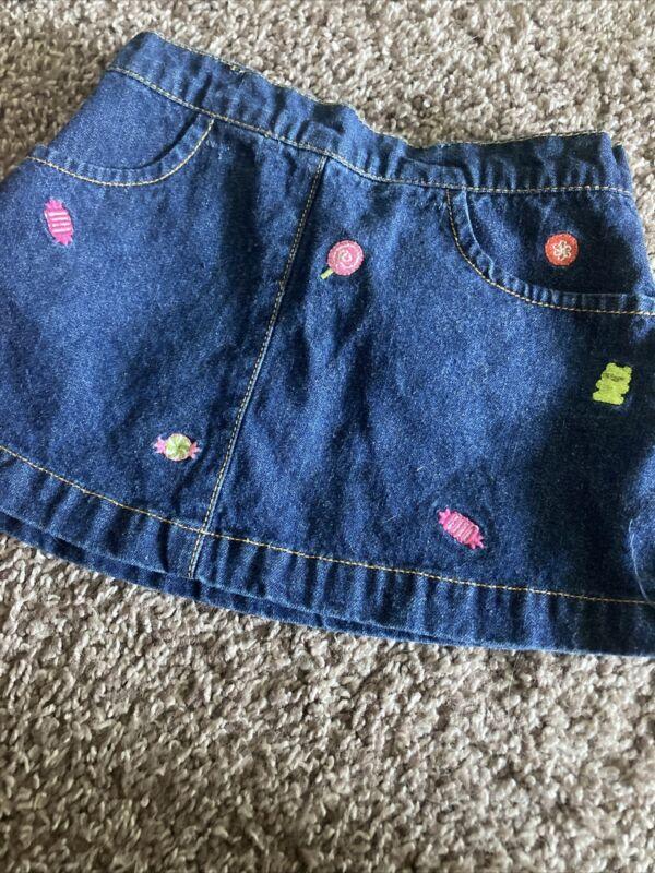 toddler girl candy gymboree jean skirt 18-24 months