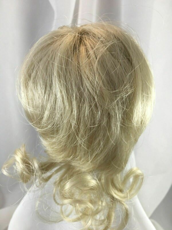 """10/11""""  Back Curls Pale Blonde Doll Wig Reborn OOAK BJD Repair BRENDA"""