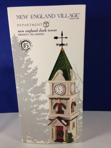 Dept 56 New England Village NEW ENGLAND CLOCK TOWER 4020201  Brand New!