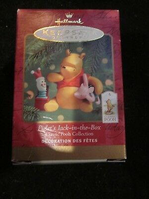 HALLMARK KEEPSAKE ORNAMENT 2000 CLASSIC POOH COLLECTION PIGLET'S JACK IN THE BOX